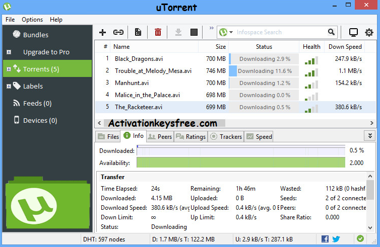 uTorrent Pro Torrent Activation Key