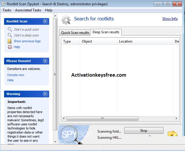 SpyBot Search & Destroy Key