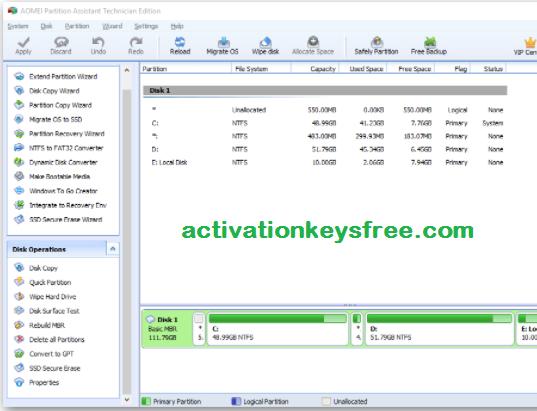 AOMEI Partition Assistant key
